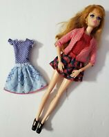 BARBIE DOLL LIFE IN THE DREAMHOUSE MIDGE WITH SHOES SWEATER & 2 DRESSES RED HAIR