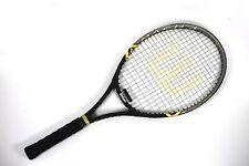 "Wilson Mach 3 Tennis Racquet 4 3/8"" Grip Black Silver And Yellow Mens Racket"