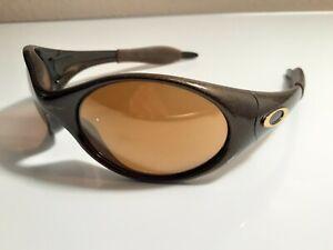 Oakley Trenchcoat Black Gold Sunglasses - Gold Iridium - VERY NICE