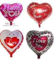 "18"" Inch Heart Shape Foil Balloons Best Quality Multi Colour Baloons BALON"