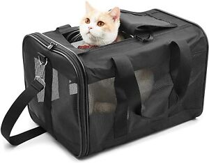 ScratchMe Pet Travel Carrier Soft Sided Portable Bag for Cats Small Dogs