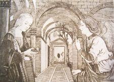Incisione a bulino - Annunciazione dell' Angelo a Maria - stampa- incisore Cozzi