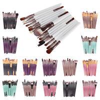 15pcs ombretto sopracciglio cosmetico strumento pennelli trucco set pennello