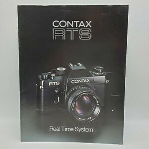 Vintage Contax RTS 35mm Film SLR Camera Real Time System Advertising Brochure