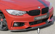 Rieger front spoiler labbro in carbon-Look per BMW 4er f32/f33/f36