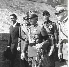 WW1 FOTO RE VITTORIO EMANUELE III GENERALE ARMANDO DIAZ GENERALE CADORNA
