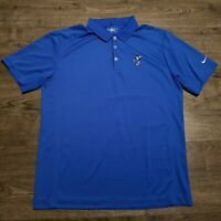 NIKE GOLF Polo Shirt Mens LARGE Disney Mickey Mouse Blue Tour Performance
