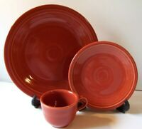 HLC Fiesta Paprika (3) piece Place Setting NWOT Homer Laughlin Co USA New!