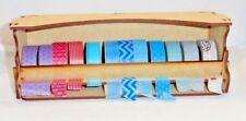 Washi Tape Holder - washi tape Tidy, wood stackable washi tape tidy