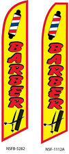 Two Barber (yellow) 15 foot Swooper Feather Flag Sign