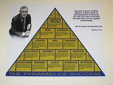 UCLA Bruins JOHN WOODEN Pyramid Of Success 8x10 Print Poster Glossy Photo