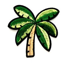 Palm Tree Patch Embroidered Iron Sew On Applique Badge Tropical Beach