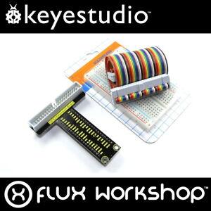 Keyestudio Raspberry Pi GPIO Breakout Board Adaptor Set 40 A+ 400 Flux Workshop