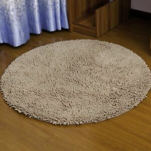 Bathroom Carpet Floor Mat Round Anti-Slip Doormat Kitchen Wood Rustic Soft Rug