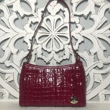 Brahmin Anytime Mini Bag Fuschia La Scala Leather $95