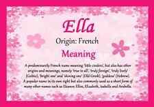 ELLA Personalised Name Meaning Certificate