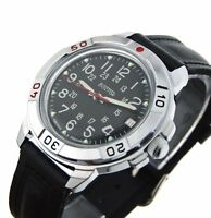 Vostok Komandirskie 431783 Military Russian Commander Watch 24 Hours Black