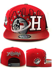 timeless design 48c7d 7e5b2 Houston New Leader TX City Skyline Rockets Colors Red Gray Era Snapback Hat  Cap
