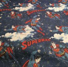 "Vintage 1978 Superman DC Comics Twin Fleece Blanket 90"" X 64 "" NICE!"