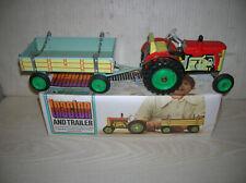 Alter Kovap Blechspielzeug Traktor Zetor mit Anhänger von ca. 70er Jahre
