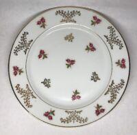 Lot1 De 6 Petites Assiettes En Porcelaine Fine De Limoges A.B France D 18 cm