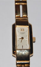 Gold Toned Roman Numeral Citizens Quartz Watch Lady'S Gn-O-S