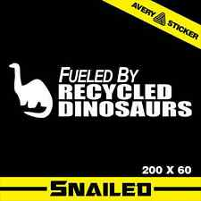 FUELED BY RECYCLED DINOSAURS JDM STICKER DECAL CAR DRIFT TURBO VINYL GTR EURO