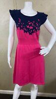 Lilly Pulitzer Kariana Sweater Dress Ruffle Short Sleeve Women's Size M