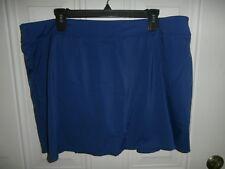 NEW Denim & Co. Beach Blue Swim bathing suit Skirt. 22 W A303155 QVC
