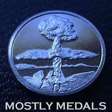 Franklin Mint Sterling Mini-Ingot 1945 The Atomic Bomb Ends War With Japan WWII