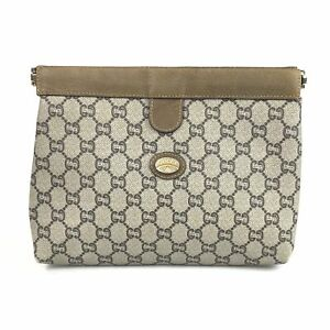 GUCCI Bag Second Bag GG Plus GG Pattern Pouch AUTHENTIC Used