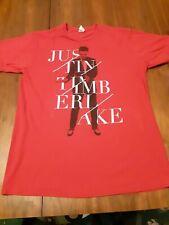Justin Timberlake Concert Tour 2014 Xl Red Tee T-Shirt (20/20)