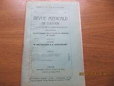 Revue Médicale de Louvain N°10 1933 L'infection tuberculeuse