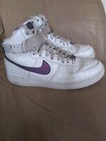 Nike Air Force 1 Mid rare Purple swoosh Men's size 12 Excellent condition