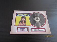 2015 Americana Certified Singles #1 Paula Abdul