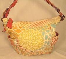 Fossil Multicolored Floral Pattern Canvas Shoulder/Handbag Medium ZB 2907