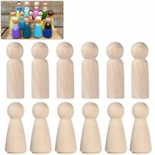 Wooden Peg Doll Unfinished Wooden People Plain Blank Bodies Angel Dolls For D NC