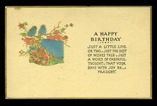 Birthday Greetings Just a Little Line or Two Tuck 258 vintage PPC