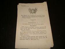 1885 REGIO DECRETO COSTITUZIONE COMUNE VEZZI PORTIO SAVONA GENOVA LIGURIA