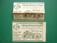1935 PUB FN FABRIQUE NATIONALE D'ARMES HERSTAL MOTO 500CC MOTORRAD ORIGINAL AD