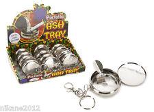 portable key ring ash tray leaf design new quality smoking ciggarette pocket