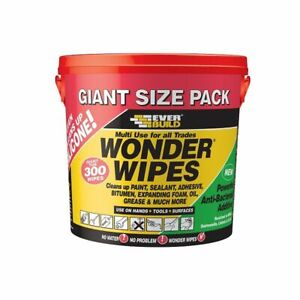 EVERBUILD WONDER MULTI USE HEAVY DUTY HAND INDUSTRIAL CLEANING WIPES 300 WIPES