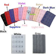 2pcs Multi-Color 3 4 Hooks Free Bra Extender Strap Extension Plus Size Brassiere