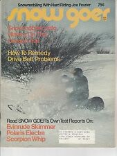 NOV 1974 SNOW GOER snowmobile magazine