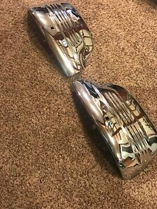 1936 1937 Ford Super Deluxe Bumper Ends Pair Very Nice