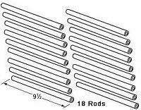DCS 18-Pack 9.5 Inch Replacement Ceramic Radiant Rod For DCS 30/36/48 Inch Grill