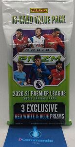 2020-21 Panini Prizm Premier League Soccer SEALED Value Cello Fat Card Pack 2021
