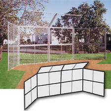 Chain Link Backstop 20' w/Hood-No Wings