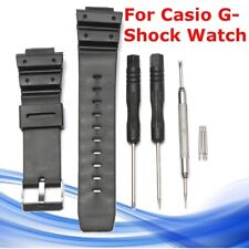 Silicone Watch Band Strap & PINS Tool Replace For Casio G-Shock Watch 16mmx 25mm
