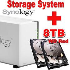 8TB (2x4TB) WD Red Synology Disk Station DS218j Netzwerkspeicher Gigabit NAS